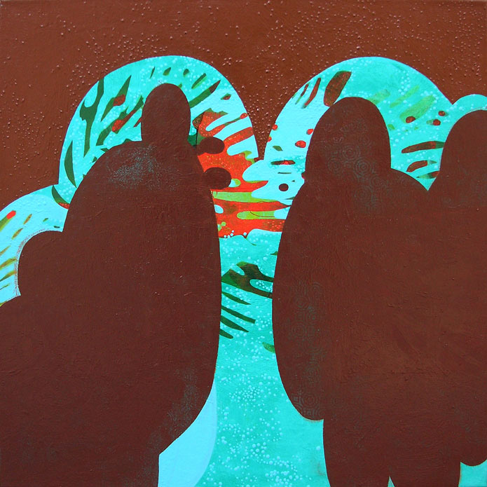 Couples, acrylic, 2007, 36 inches x 36 inches