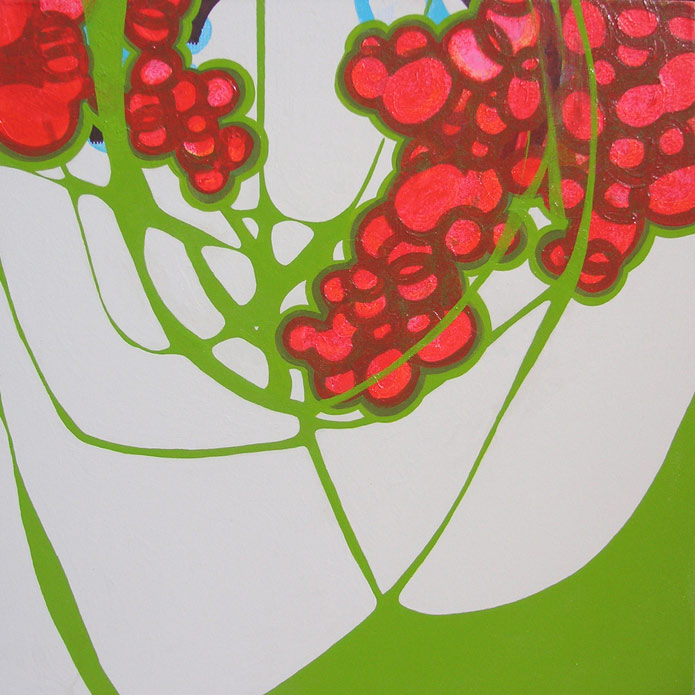 Cradle, acrylic, 2007, 36 inches x 36 inches