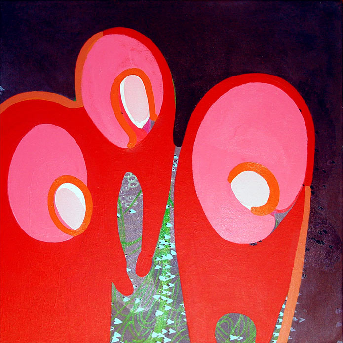 Family Migration, acrylic on canvas, 2005, 30 inches x 30 inches