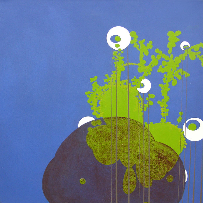 Globes, acrylic, 2007, 36 inches x 36 inches