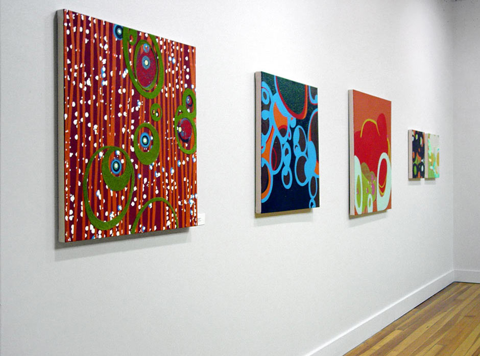 Canvas works installed at Graham Gallery