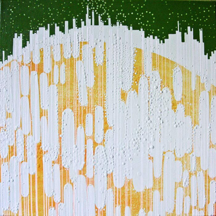Smog, acrylic on canvas, 2008, 22 inches x 22 inches
