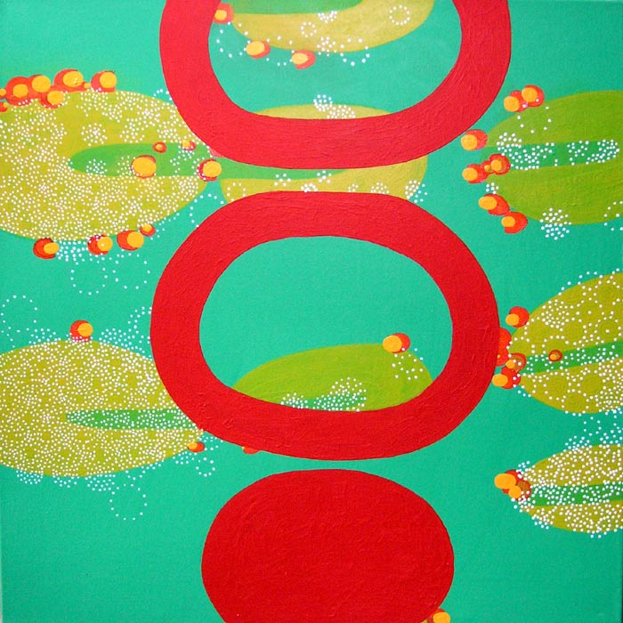 Gain, acrylic on canvas, 2005, 36 inches x 36 inches