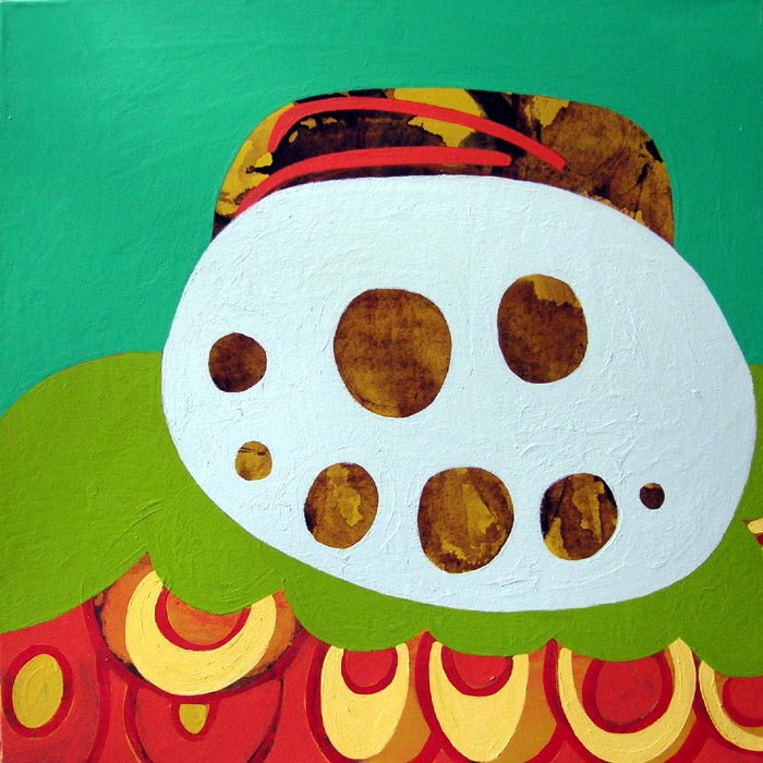 Laid-Back, acrylic on canvas, 2005, 32 inches x 32 inches