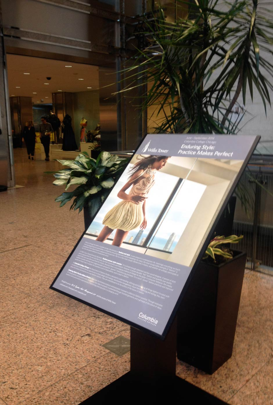 Columbia College Chicago's Enduring Style: Practice Makes Perfect Fashion Exhibition at Willis Tower